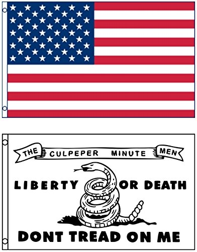Mission Flags 3x5 ft. US American and Culpeper Minute Men Do
