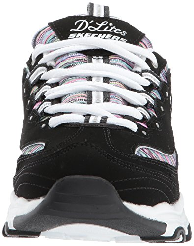 Skechers Womens Dlites Sneaker Intermezzo Nero / Multi
