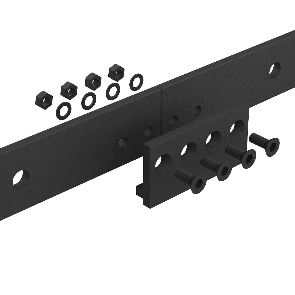 WINSOON 16FT Antique Double Sliding Barn Door Hardware Roller Track Kit Black, 4-18FT for Choose by WINSOON (Image #5)