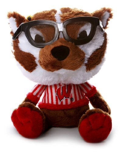 NCAA Wisconsin Badgers Women's Study Buddy Plush Toy, Medium, Red (Toys Plush Mascot Stuffed)
