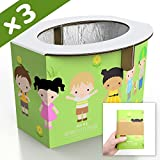 Zensuno Emergency Foldable Portable Disposable Hygienic Instant Potty for Kids Toddlers Small Children and Babies, Great for Road Trip, Camping, Traveling, Hiking and Car Essential (3 Pack, Age 1-3): more info