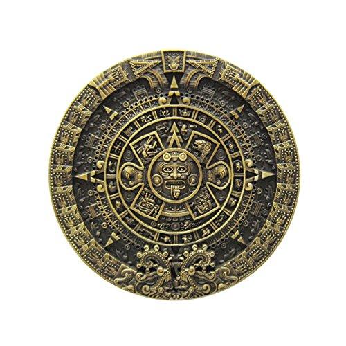 New Classic Vintage Bronze Aztec Calendar Belt Buckle also Stock in US ()