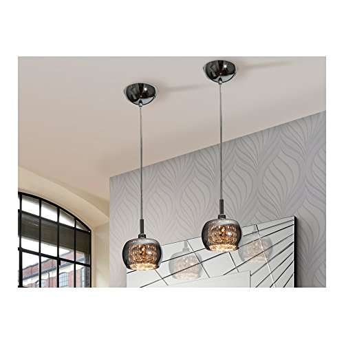Schuller Spain 193273I4L Modern, Art Deco Shimmered Dome Ceiling Light Pendant crystal 1 Light Dining Room, Living Room LED | ideas4lighting by Schuller