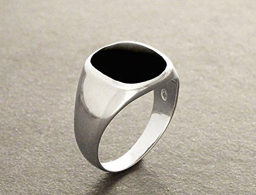 (Men Ring - Modern pattern - Genuine Onyx - Designer Ring - Handmade Ring - Tribal Ring - Men Ring - Silver Ring - Modern - Urban.)