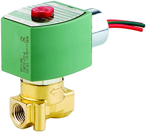 ASCO 8262H002-120/60,110/50 Brass Body Direct Acting General Service Solenoid Valve, 1/8