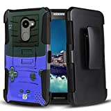 Alcatel A30 Fierce, A30 Plus, REVVL Case, Trishield Gear Durable Hybrid Rugged Armor Black Hard Shell Inner Silicone Phone Cover With Kickstand Belt Clip Holster For A30 – Game Controller Boy Review
