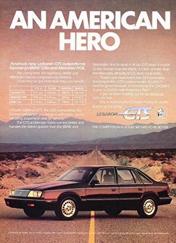 Chrysler Lebaron Gts - 1986 CHRYSLER LeBARON GTS 4-Door SEDAN