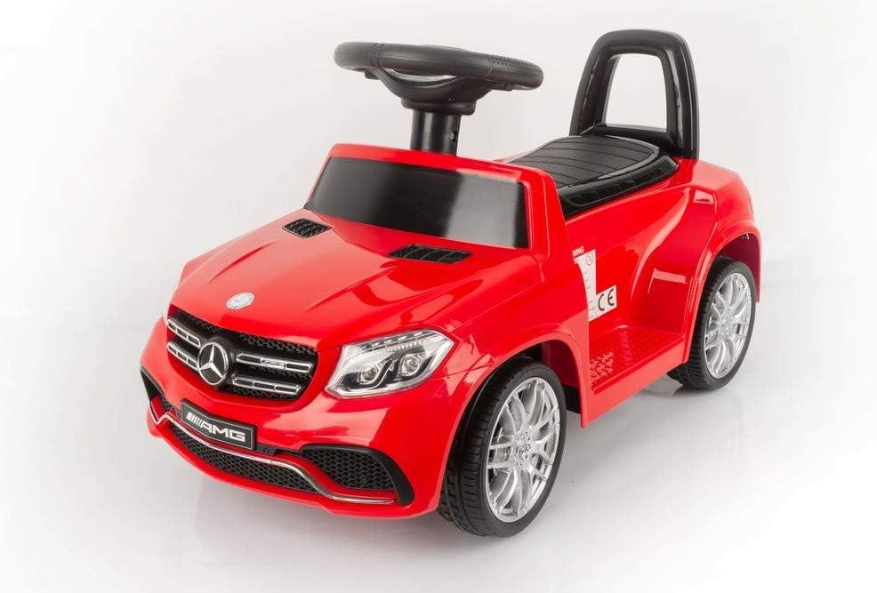 Devessport - Coche eléctrico para niños con Mando de Control Remoto - Mercedes GLS-63 Rojo - Coche teledirigido con batería - Ideal para niños de 3 a 8 años (máximo 30 Kg) - Medidas: 75 x 35 x 41 Cm