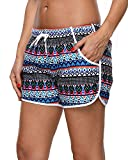 Sociala Womens Workout Shorts with Pockets Drawstring Swim Suit Bottoms 2XL