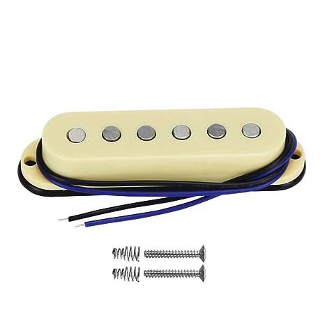 FLEOR Alnico V guitarra eléctrica Single Coil Pickup M medio pastilla 50 mm soporte de barra