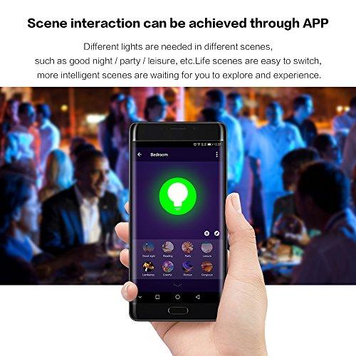 Lvgoo WiFi intelligente lampadina LED, funziona con Amazon Echo ALEXA, smartphone telecomando senza fili, dimmerabile multicolore colore ,60W equivalente (argento)