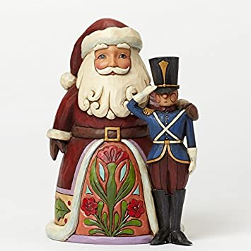 Jim Shore for Enesco Heartwood Creek Santa with Toy Soldier Figurine, 6.25-Inch