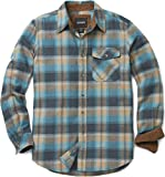 #4: CQR Men's Flannel Long Sleeved Button-Up Plaid 100% Cotton Brushed Shirt HOF110