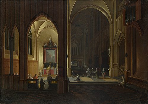 Oil Painting 'Pieter Neeffs The Elder And Bonaventura Peeters The Elder An Evening Service In A Church ' Printing On High Quality Polyster Canvas , 24 X 34 Inch / - Sunglasses 87 Acetate