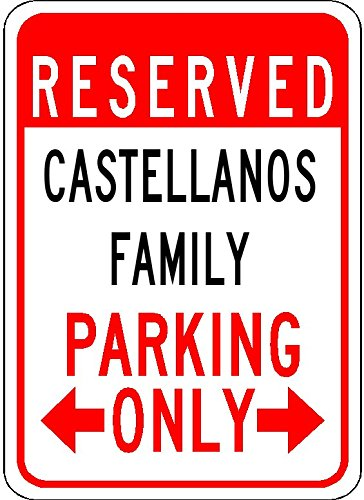 Castellano le meilleur prix dans amazon savemoney castellanos family parking customized last name 12x18 quality aluminum sign fandeluxe Images