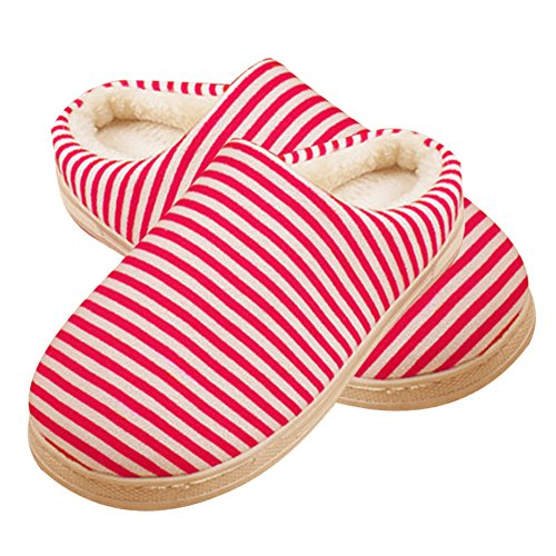 Paio Roseummer Caldo Cotone Casa Pantofole Pantofole Casa Invernale Rosa