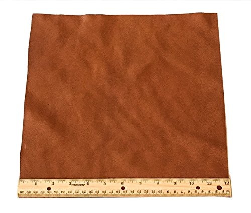 Light Brown Leather Finish (Upholstery Leather Piece Cowhide Light Brown Light Weight 1 SF 12 x 12 inches)