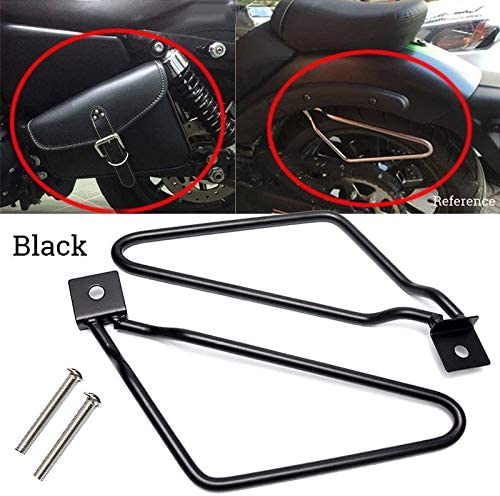Coolsheep Motorcycle Saddlebags Support Bar Mount Brackets for Harley Iron XL883N Davidson 883 Dyna Fat Bob FXDF Black