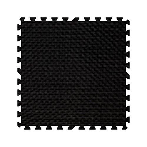Alessco EVA Foam Rubber Interlocking Premium Soft Floors 8' x 10' Set Black from Alessco