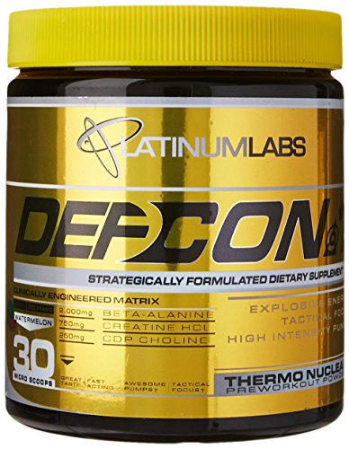 Platinum Labs Defcon 1 2nd Strike Pre-Workout Powder, Watermelon, 7.9 Ounce