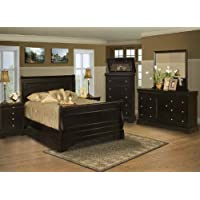 Belle Rose Black Cherry Bedroom Set - California King