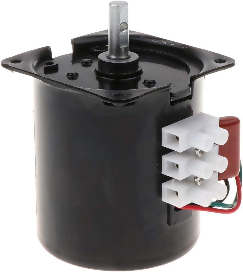 Fenteer Moteur Synchrone de Haute Qualit/é /à Moteur /à Engrenages Alternatif R/ésistant /à Corrosion R/ésistant /à Lusure et Durable 60 tours//minute