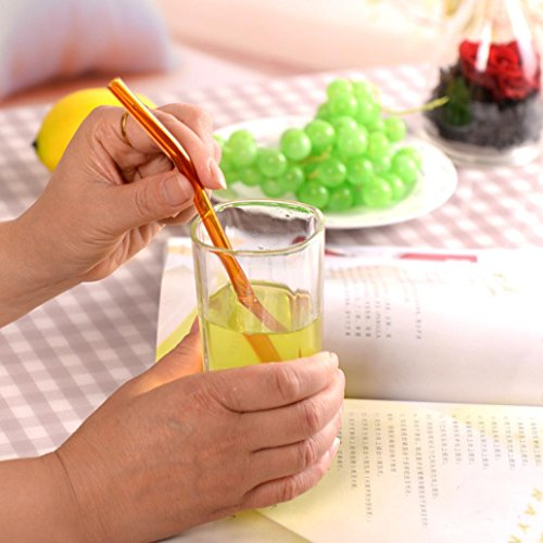 Feccile 7Pcs Reusable Glass Straws for Drinking by Feccile Kitchen (Image #2)