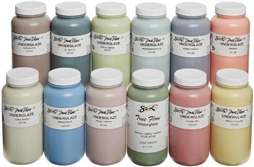 - Sax True Flow Underglaze Set, Assorted Colors, Set of 12 Pints - 1371408