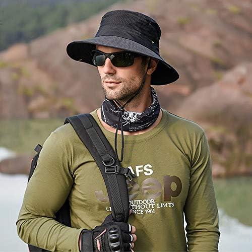 OCHENTA Herren Anglerweste mit mehreren Taschen atmungsaktiv Fotografie Camping Outdoor abnehmbare Kapuze Mesh schnelltrocknend