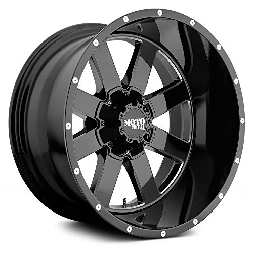 MOTO METAL MO962 Gloss Black Milled Wheel Chromium (hexavalent compounds) (17 x 10. inches /5 x 78 mm, -24 mm Offset)