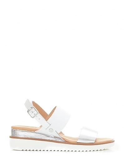 In Flat 8 Moda Metallic Sandals Silver Pelle SzVUpGMq