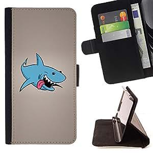 - Funny Laughing Shark/ Personalizada del estilo del dise???¡¯???¡Ào de la PU Caso de encargo del cuero del tir???¡¯????n del s - Cao - For Apple Iphone 5