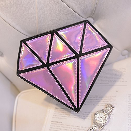 forma messenger bag laser Crossbody a bag diamante catena Ourbest borsa olografico di ologramma borse tqTAwxR4
