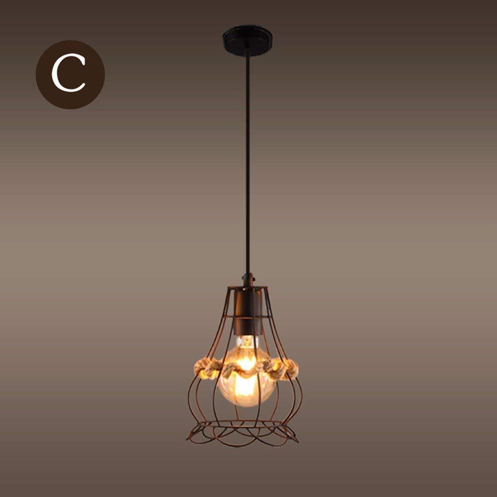 FuweiEncore Kronleuchter Pendelleuchte Personalisierte Café Käfige Kunst Bar Retro Mesh Lampe 15  22Cm