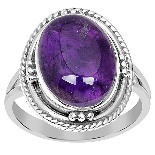 - 5.50 Ct Purple Oval Cut Amethyst 925 Sterling Silver Wedding Ring For Women: Nickel Free Beautiful And Stylish Birthday Gift For Wife: Birthstone Month-February By Orchid Jewelry: Ring Size-6