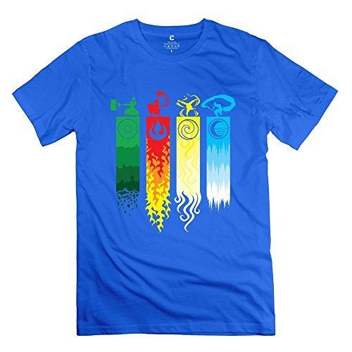 Geek Avatar The Last Legend Airbender Of Korra Aang Men's T Shirt RoyalBlue Size S