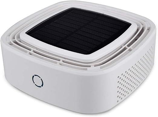 Purificador de aire del coche Uso del automóvil Ion Anion Freshener Pm2.5 Mínimo Ruido Eléctrico de alta velocidad con carga solar,White: Amazon.es: Hogar