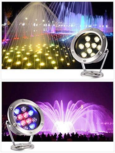 SQSHWL Ip68 ha Condotto la Luce Subacquea 3w 6w 9w 12w 18w 24w 36w RGB Lampada da Notte Giardino Esterno Piscina Partito Paesaggio 24 V RGB 12 W