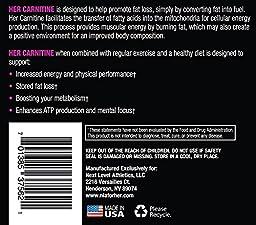 NLA for Her - Her Carnitine - Premium L-Carntine/ALCAR Blend - 60 Capsules