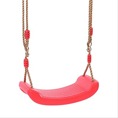 FRWE Toys Swing Children's EVA Baby Swing Safety Curved Board Seat for Kid Garden Indoor and Outdoor Chair Hanging Toy Red: Toys & Games