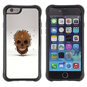"Pulsar iFace Series Tpu silicona Carcasa Funda Case para Apple iPhone 6+ Plus(5.5 inches) , Honey Bee Oro cráneo Bronce Gris"""