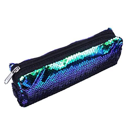 1KTon Fashion Outdoor Solid Color Sequins Handbag Shoulder Bag Tote Ladies Purse ()