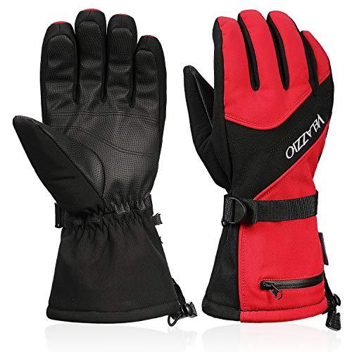 VELAZZIO Ski Gloves Waterproof B...