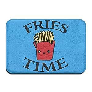 Cute Smiling patatas fritas tiempo antideslizante reutilizable alfombrilla de baño