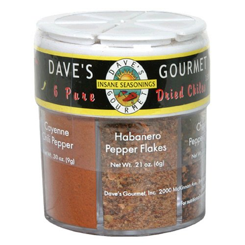 Dave's Gourmet 6 Pure Dried Chiles, 1.97-Ounces (Pack of 3)