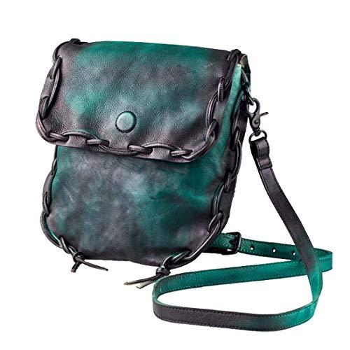 tracolla unita donna tinta scuro Leather Verde Classic verde Genuine per a Igspfbjn Borsa Classic colore XHqRtR