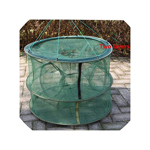 Automatic Folding Umbrella Type Multilateral Fishing Net Shrimp Cage Crab Fish Trap Cast Net 2 4 6 8 12 16 Holes,Y28 ()