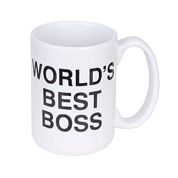 Amazoncom The Office Worlds Best Boss Mug Coffee Cups Mugs