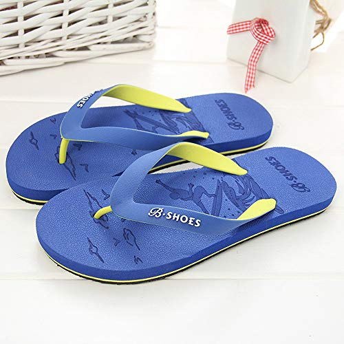 Summer Men Anti-Skidding Sandals Slipper Beach Shoes Blue by Sunsee (Image #3)