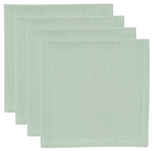 4 Basic Napkins - Now Designs Spectrum Basic Cotton Napkins, Set of Four, Aloe